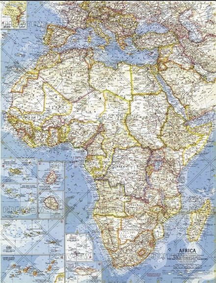 Africa - Published 1960 by National Geographic